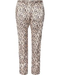 Mulberry Mini Gecko Printed Hammered-Silk Satin Pants - Lyst