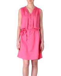 Paul Smith Belted Dress - Lyst