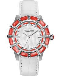 Valentino Eden Mother-Of-Pearl Watch - White