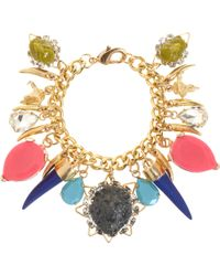 Fenton - Shinde Lion Gem Charm Bracelet - Lyst