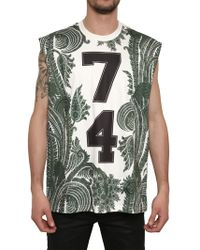 Givenchy Paisley Printed Jersey Oversized T-shirt - Green