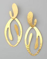 Herve Van Der Straeten - Coral Cutout Drop Clip Earrings - Lyst