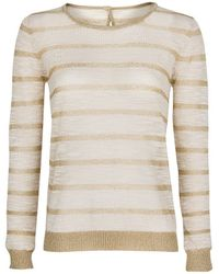 Mango Striped Fine Knit Sweater - Lyst