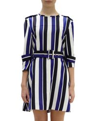 Marni Striped Trench Dress - Lyst