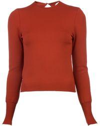 Mugler Cutout Back Sweater - Lyst