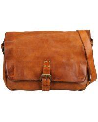 Officine Creative Vintage Tucson Leather Messenger Bag - Brown