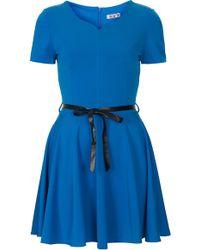 Topshop Scuba Skater Dress blue - Lyst
