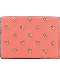 Anya Hindmarch Studded Leather Credit Card Case - Lyst