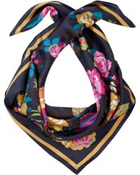Joules - Bloomfield Silk Square Scarf - Lyst
