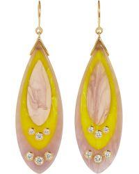 Mark Davis - Bakelite Diamond Drop Earrings - Lyst