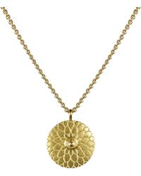 Me&Ro - Gold Small Lotus Mandala Amulet with Indian Diamond - Lyst