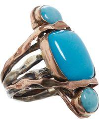 Sandra Dini - Turquoise Stone Ring - Lyst