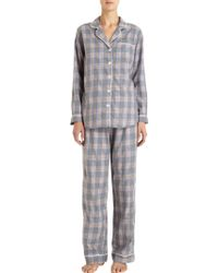 Steven Alan Large Plaid Pajama Shirt - Lyst