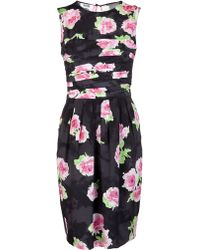 Moschino Floral Ruched Dress multicolor - Lyst