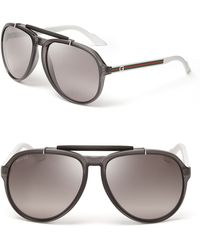Gucci Top Bar Aviator Sunglasses - Lyst