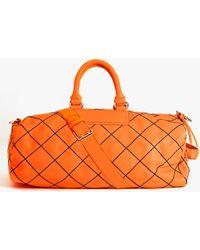 Nasty Gal - Jet Set Weekender Bag Orange - Lyst