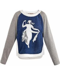 N°21 Vestale Print Sweater gray - Lyst