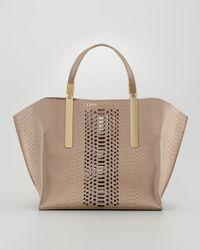 Z Spoke by Zac Posen Danes Dry Pythonprint Small Shopper Bag - Natural