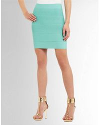 BCBGMAXAZRIA Simone Textured Power Skirt - Lyst