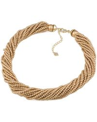 Carolee Goldtone Faux Pearl Necklace - Lyst