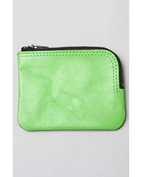 Cheap Monday | The Zip Leather Wallet in Green Grey | Lyst