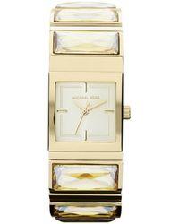 Michael Kors Mini-Size Golden Stainless Steel Erin Three-Hand Glitz Watch - Lyst
