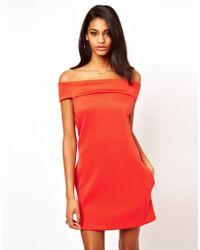 ASOS Collection | Off Shoulder Shift Dress | Lyst