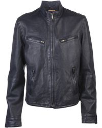 Levi's Leather Biker Jacket - Lyst