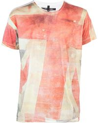 Sons Of Heroes Union Jack Tshirt pink - Lyst
