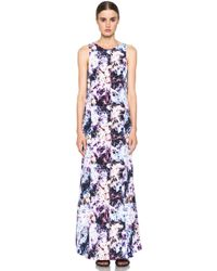 Theyskens' Theory Dlilac Ilight Maxi Dress in Bright Multi - Lyst