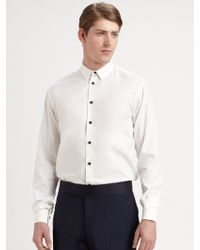 Armani Slim-Fit Cotton Blend Dress Shirt - Lyst
