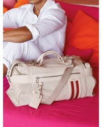 Bally Orient Express Perforated Duffel Bag - White