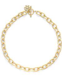Belargo - Matte Chain Link Necklace - Lyst