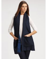 Burberry - St Helen Check Pocket Scarf - Lyst