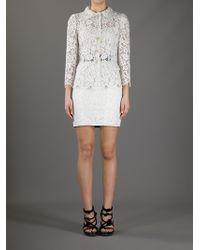 Dolce & Gabbana - Lace Skirt Suit - Lyst