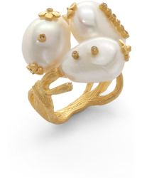 Indulgems - Freshwater Pearl Flower Ring - Lyst