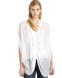 Madison Marcus Silk Gauze Doublelayered Top - Lyst