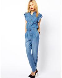 Mango Denim Boiler Suit - Blue