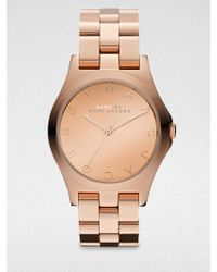 Marc By Marc Jacobs Henry Rose Gold Finished Stainless Steel Bracelet Watch/Rose Gold Dial - Lyst