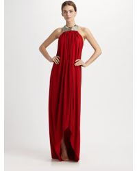 Michael Kors Crepe Jersey Toga Gown - Lyst