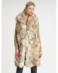 Michael Kors Sleeveless Fur Coat - Natural
