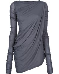 Rick Owens Lilies Draped Jersey Top - Lyst
