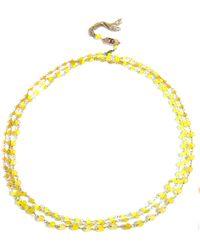 Rosantica Rosarietto Agate Necklace - Yellow