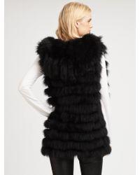 Royal Underground - Hooded Fur Vest - Lyst