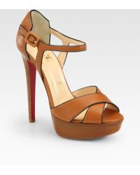 Christian Louboutin Sporting Leather Platform Sandals - Lyst