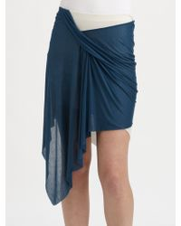 Helmut Lang | Slack Jersey Twist Skirt | Lyst