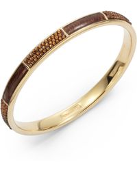 Judith Leiber - Skip Swarovski Crystal Enamel Bangle-topaz Gold - Lyst