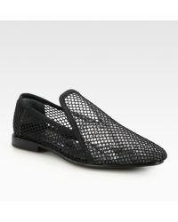 Junya Watanabe Nylon Mesh Loafers - Black