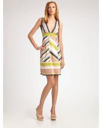 M Missoni Chevronstriped Dress - Lyst