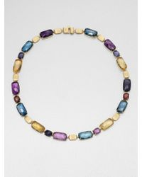 Marco Bicego - 18k Gold Semiprecious Multistone Link Necklace - Lyst